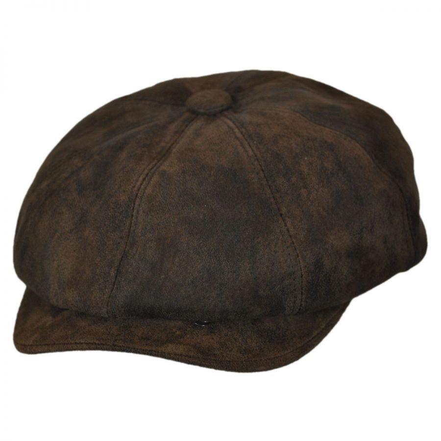 Stetson Rustic Leather Newsboy Cap Newsboy Caps a87e3f07a0d