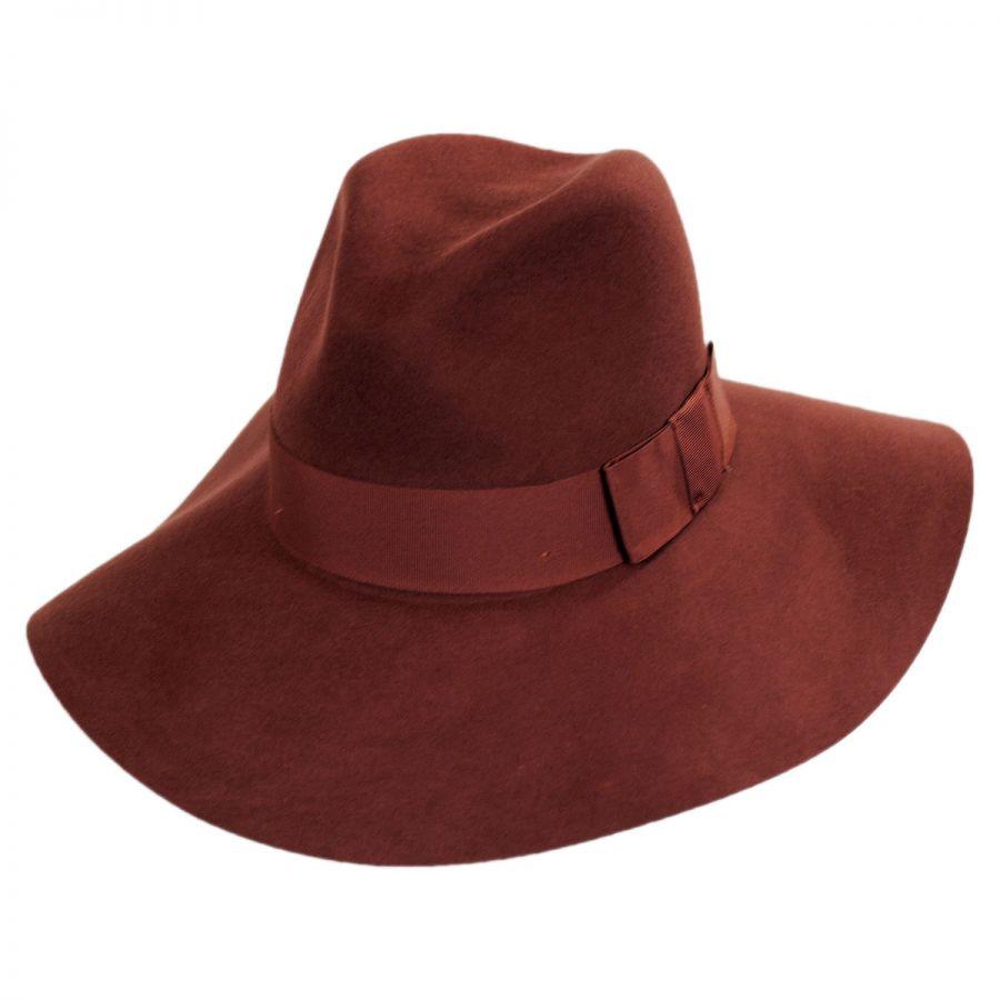 67b573a3671bc Brixton Hats Piper Wool Felt Floppy Fedora Hat All Fedoras