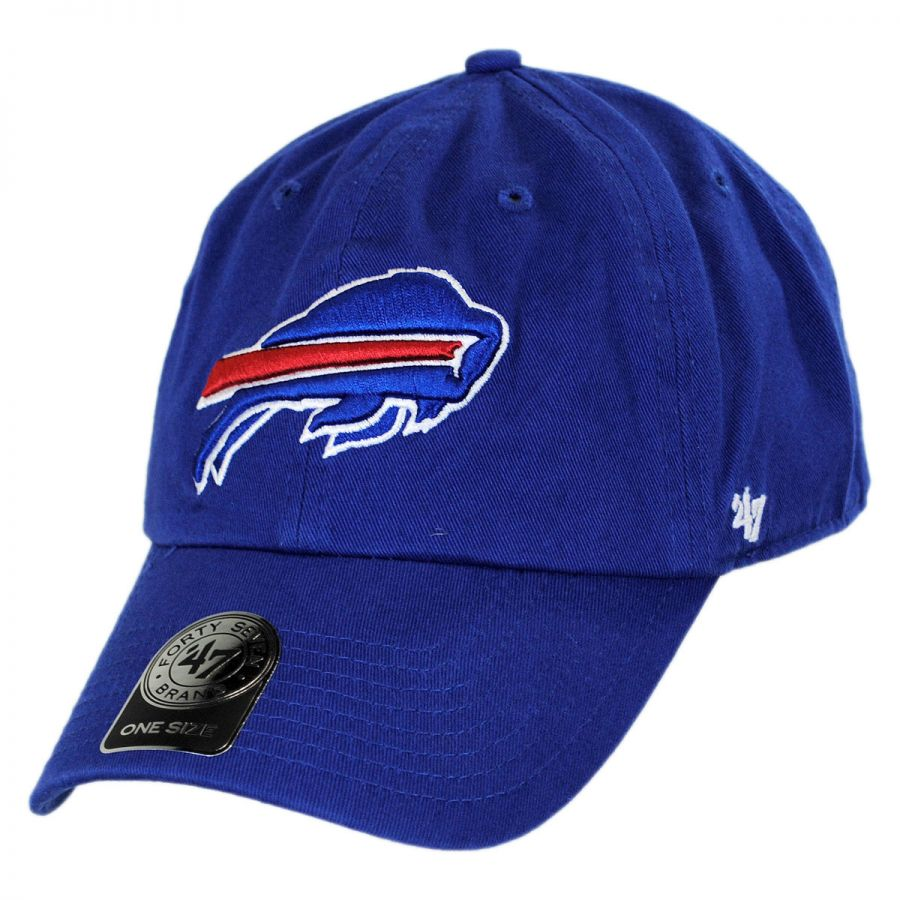 47 Brand Buffalo Bills NFL Clean Up Strapback Baseball Cap Dad Hat NFL Football Caps