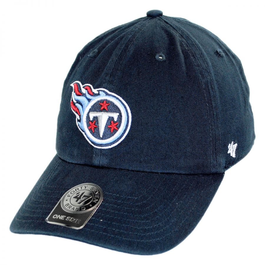 a1257224 Tennessee Titans NFL Clean Up Strapback Baseball Cap Dad Hat