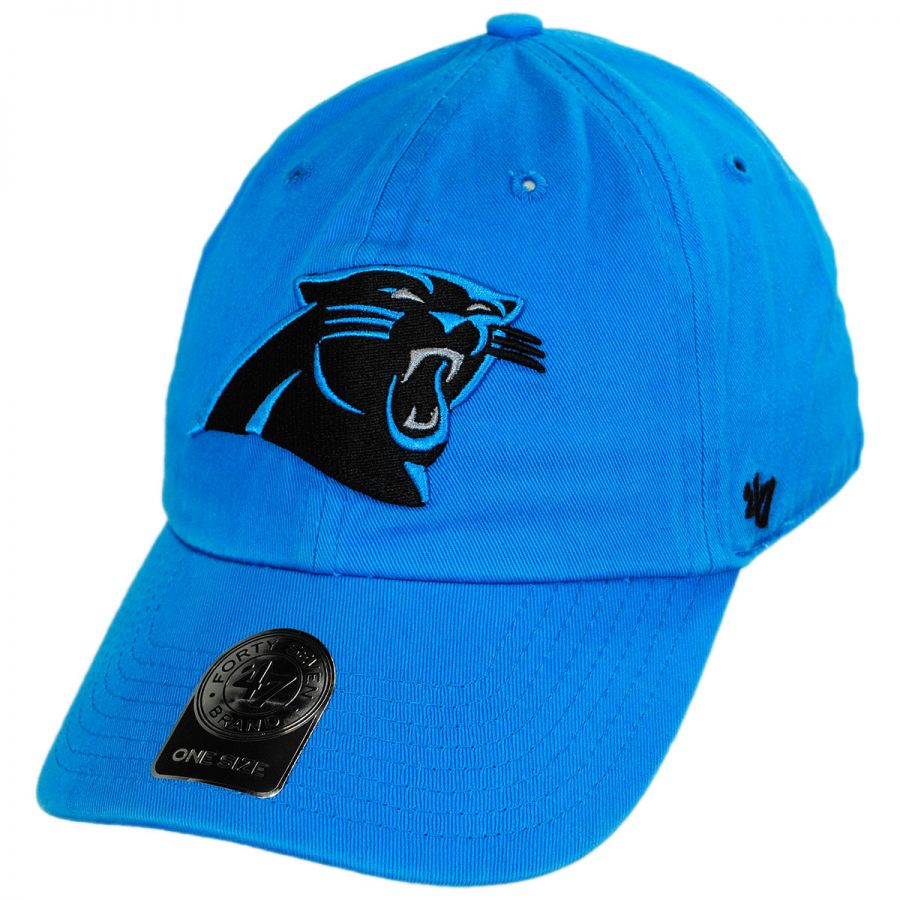 Carolina Panthers NFL Clean Up Strapback Baseball Cap Dad Hat alternate  view 5 521a16655