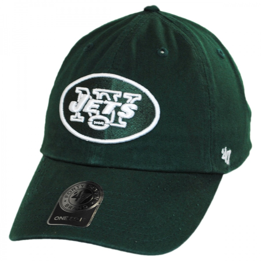 47 Brand New York Jets NFL Clean Up Strapback Baseball Cap Dad Hat NFL  Football Caps 1d1459c211d