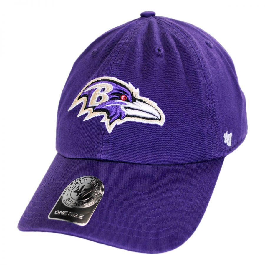 3d69c532 Baltimore Ravens NFL Clean Up Strapback Baseball Cap Dad Hat