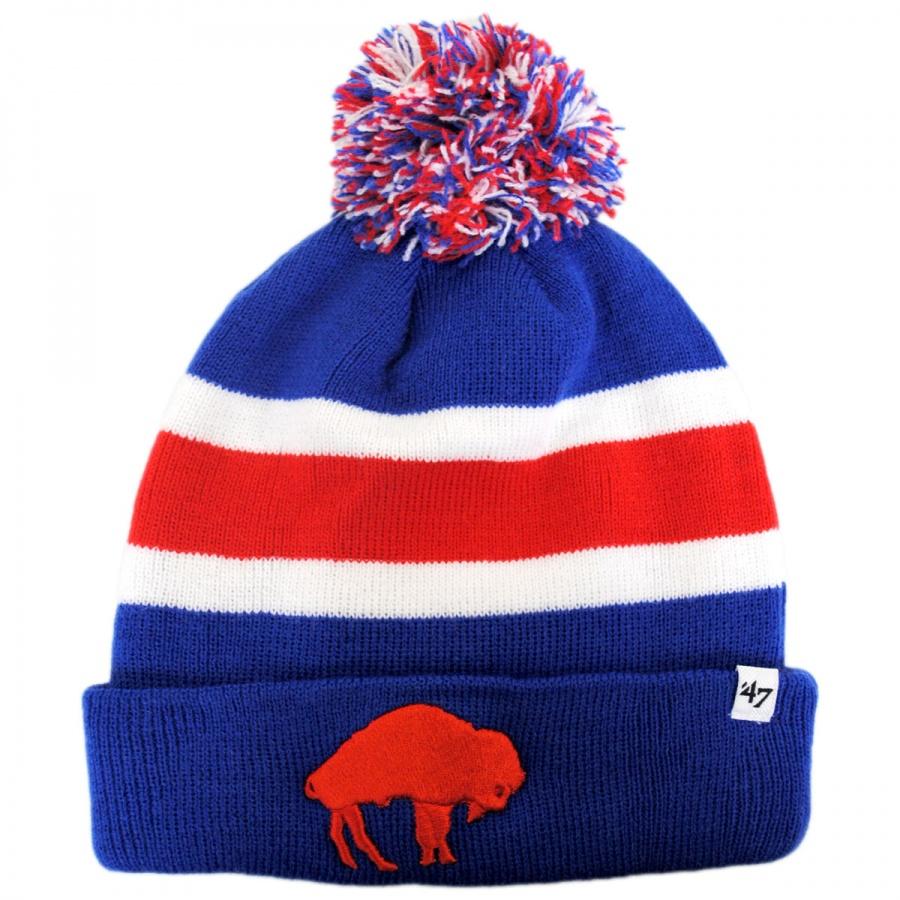 Knitting Pattern For Nfl Hats : 47 Brand Buffalo Bills NFL Breakaway Knit Beanie Hat NFL Football Caps