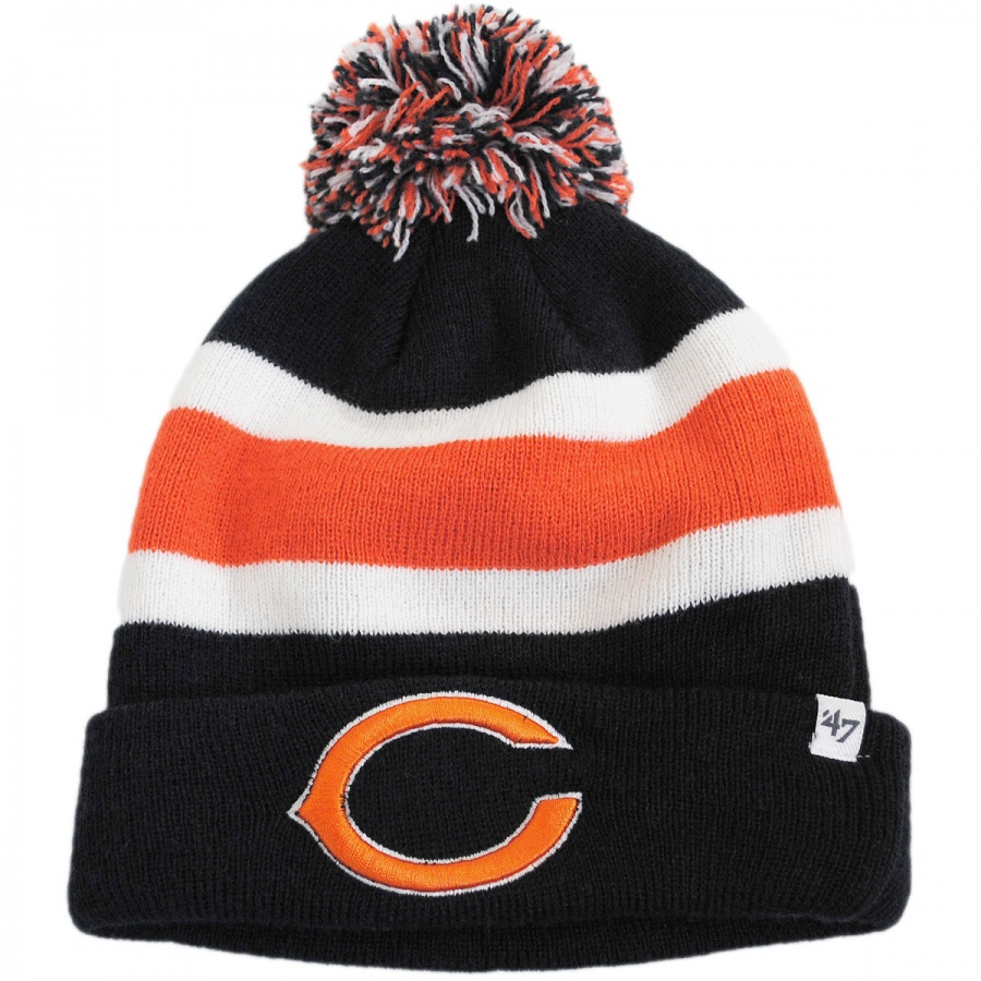 47 brand chicago bears nfl breakaway knit beanie hat nfl. Black Bedroom Furniture Sets. Home Design Ideas