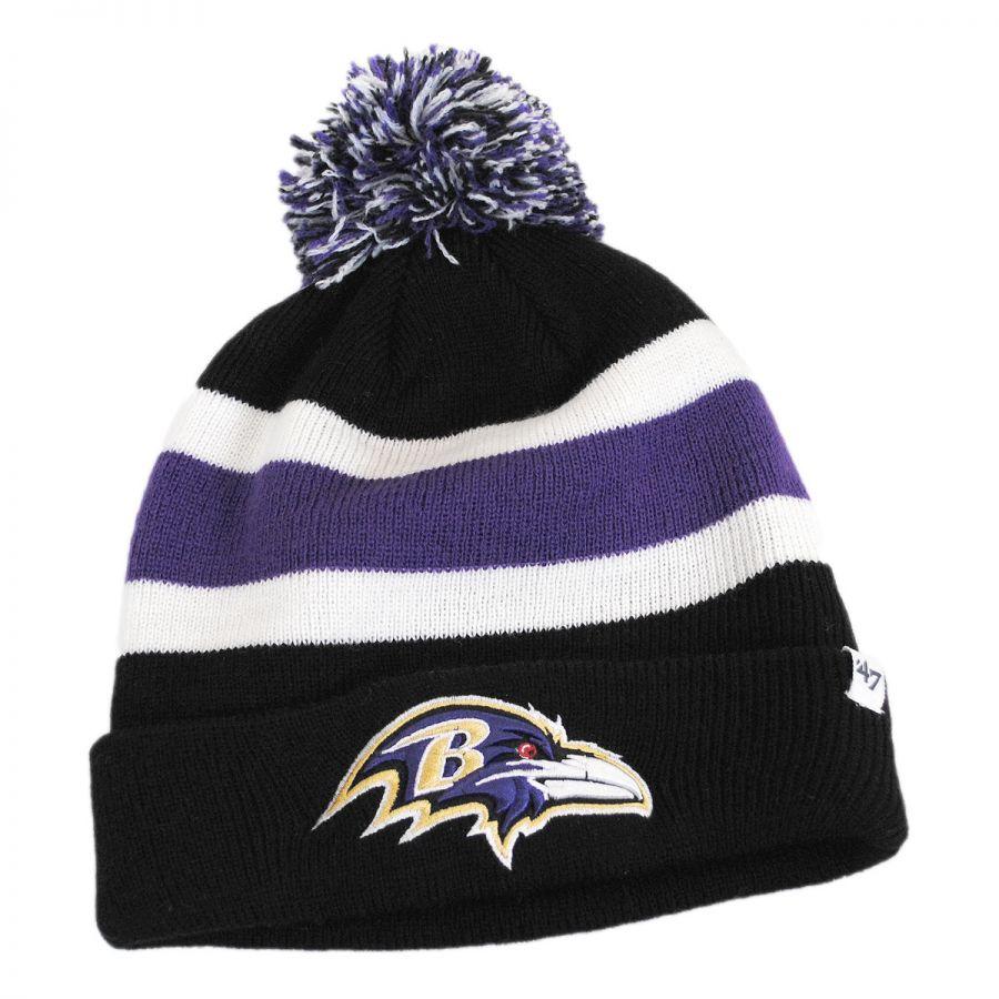 47 Brand Baltimore Ravens NFL Breakaway Knit Beanie Hat NFL Football Caps