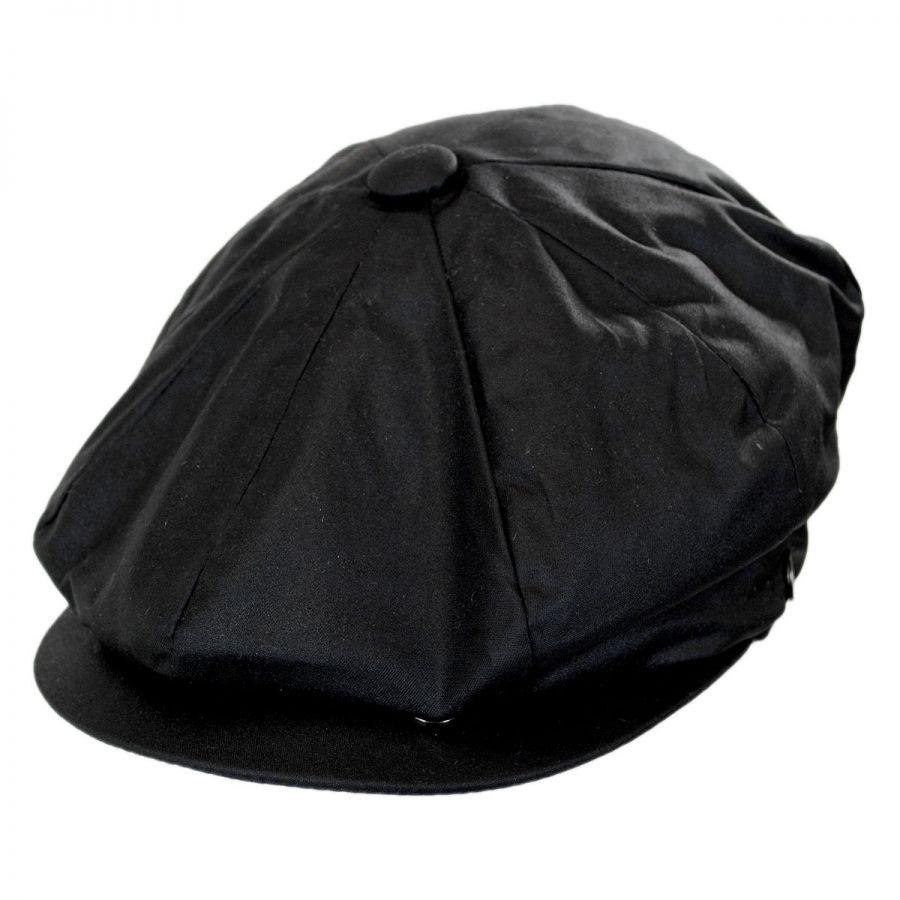 Jaxon Hats Waxed Cotton Newsboy Cap Newsboy Caps