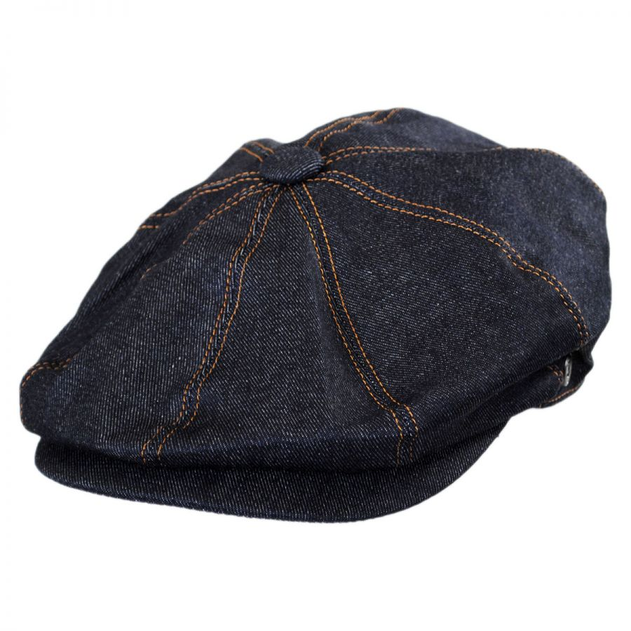 Jaxon Hats Denim Cotton Newsboy Cap Newsboy Caps 217fbe4ab0c