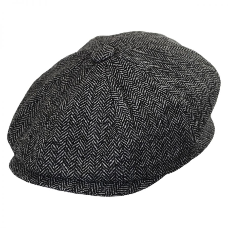Jaxon Hats Kids  Herringbone Wool Blend Newsboy Cap Kids Flat Caps b3ff9e90354