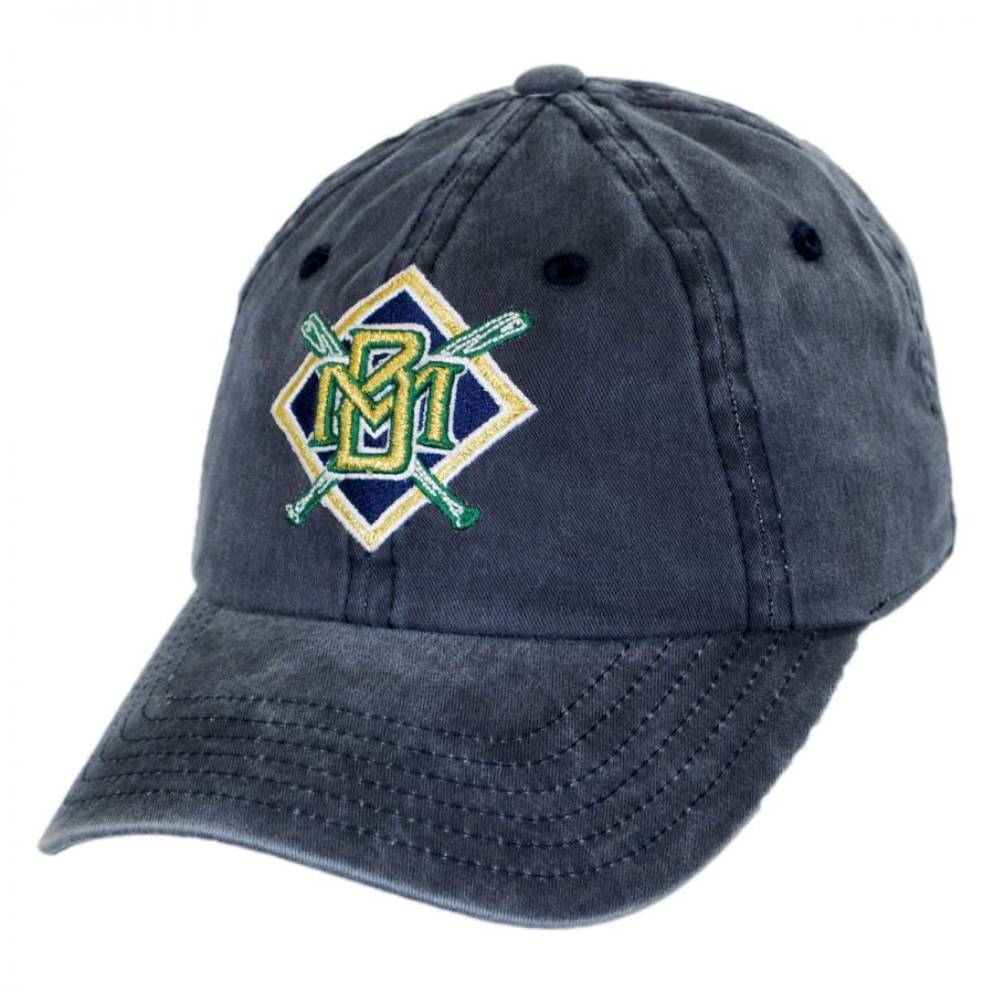 Milwaukee Brewers MLB Raglan Strapback Baseball Cap Dad Hat alternate view 1 414fbfad738