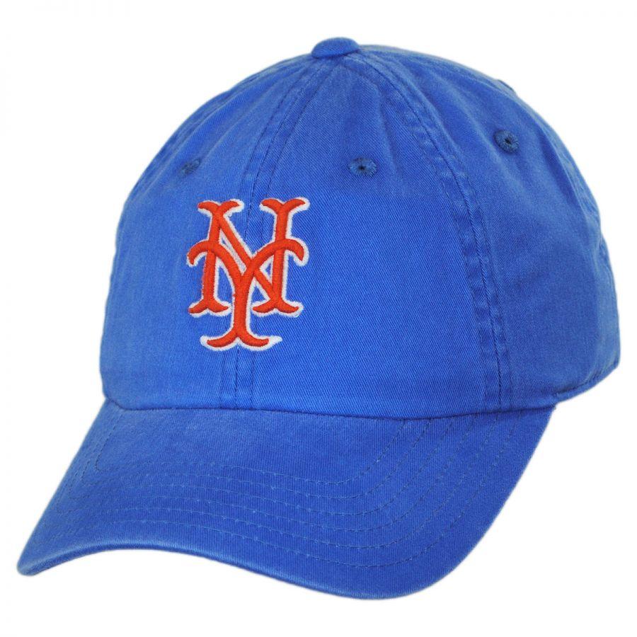 American Needle New York Mets MLB Raglan Strapback Baseball Cap Dad ... b1d79b147fa