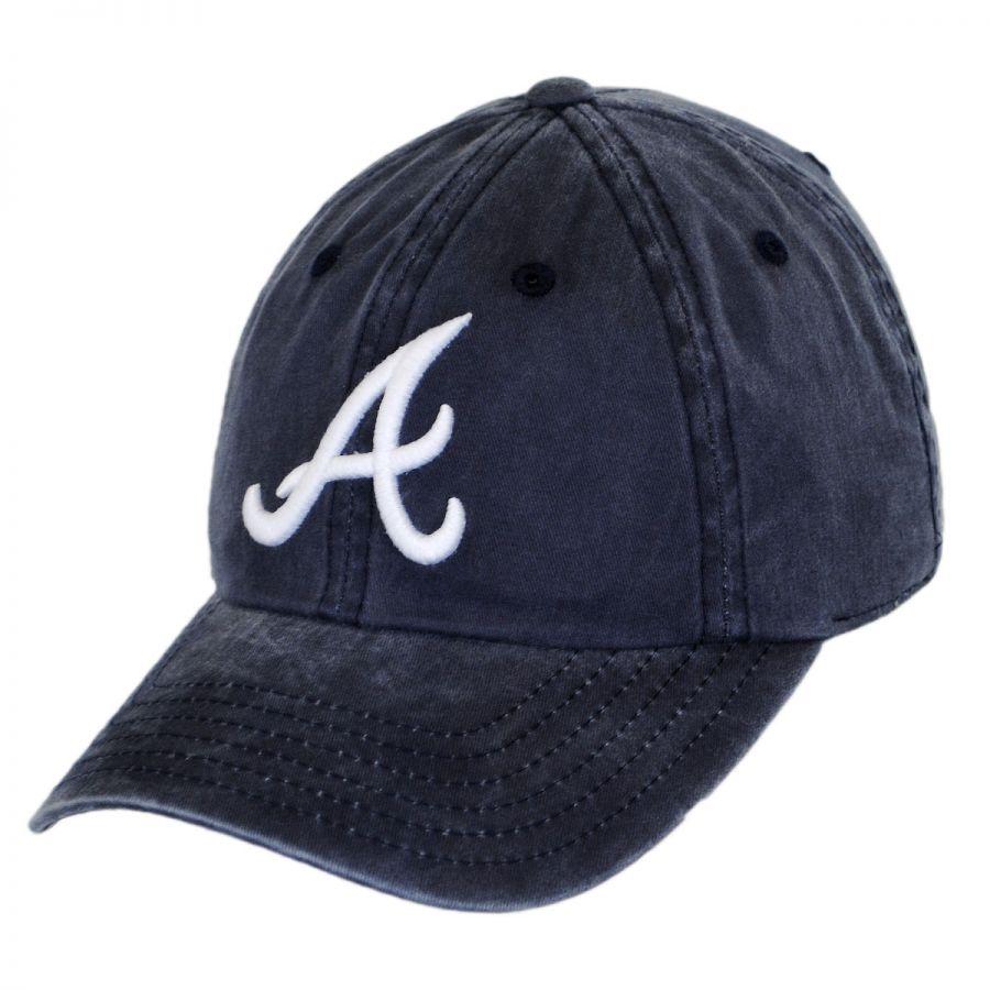 American Needle Atlanta Braves MLB Raglan Strapback Baseball Cap Dad ... bdbc53062c1