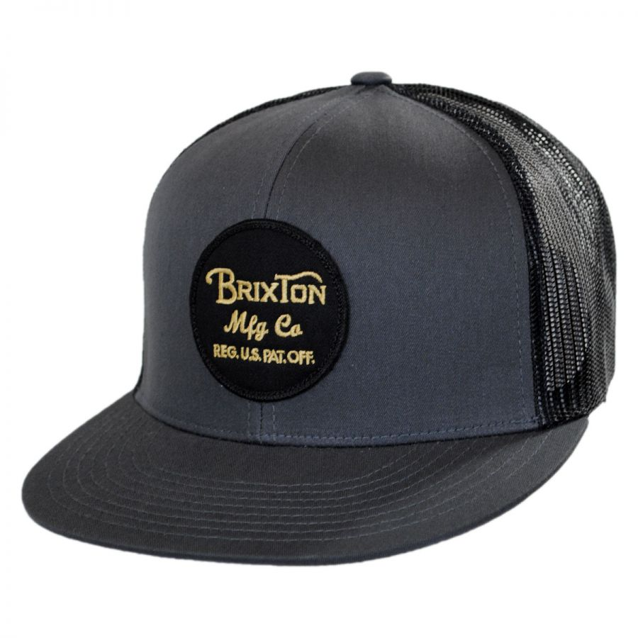 brixton hats wheeler trucker snapback baseball cap all