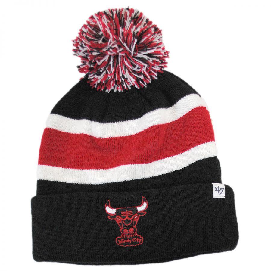 b94d5572aec 47 Brand Chicago Bulls NBA Breakaway Knit Beanie Hat Beanies