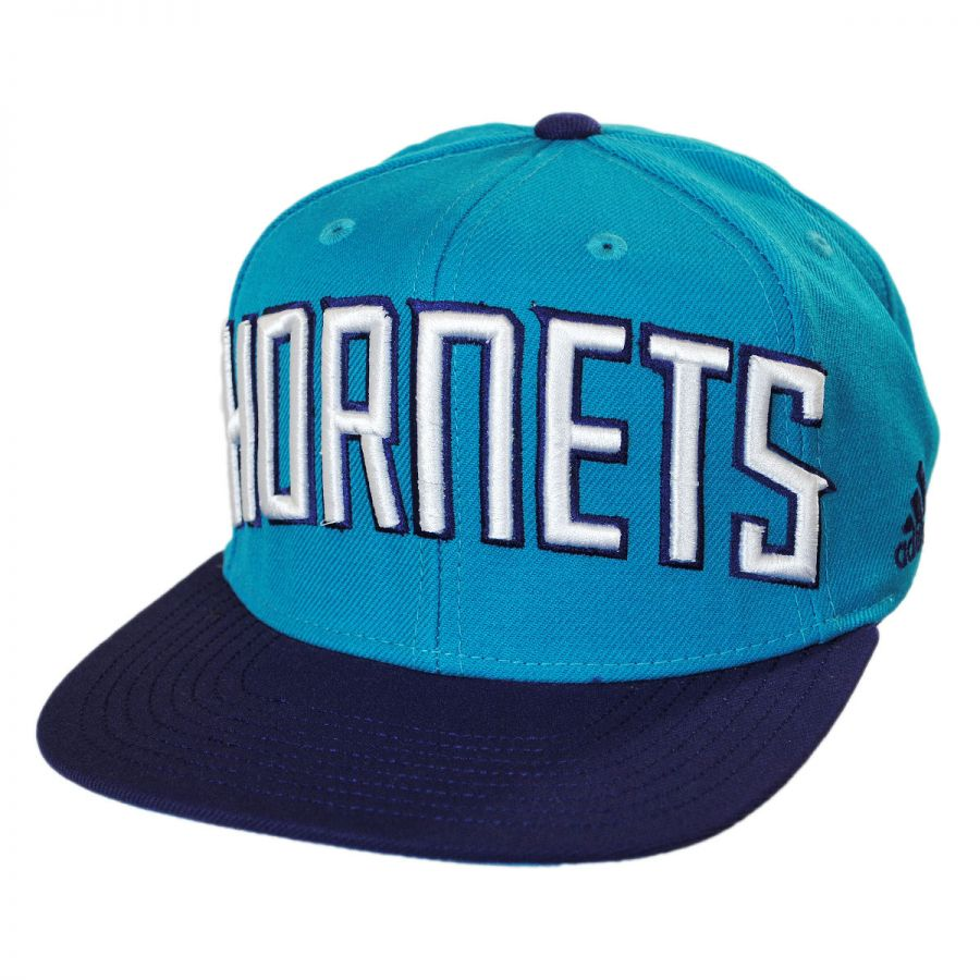 newest 1a6b9 79aa5 Charlotte Hornets NBA adidas On-Court Snapback Baseball Cap alternate view 1