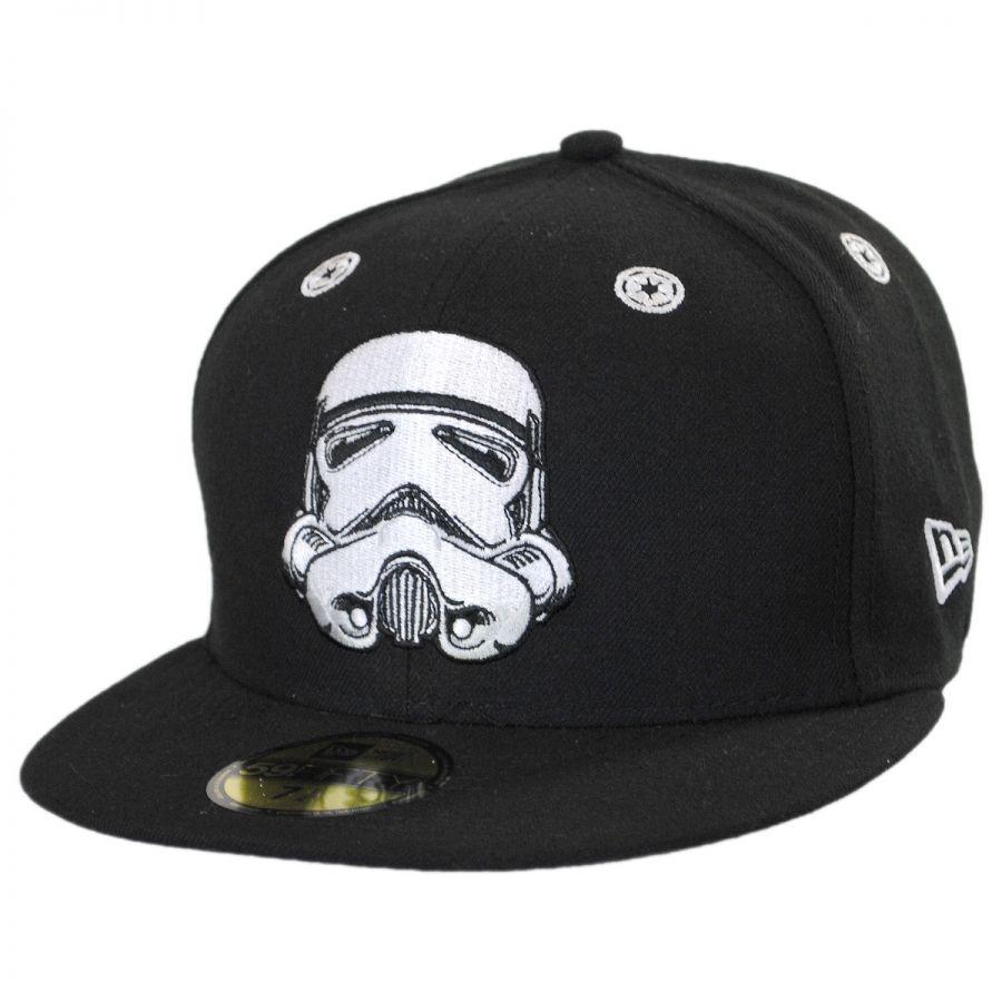 aee5591c27eea New Era Star Wars Storm Trooper Stargazer 59Fifty Fitted Baseball ...