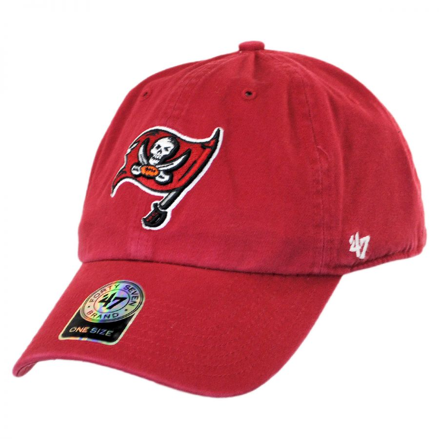 47 Brand Tampa Bay Buccaneers NFL Clean Up Strapback Baseball Cap NFL Football Caps