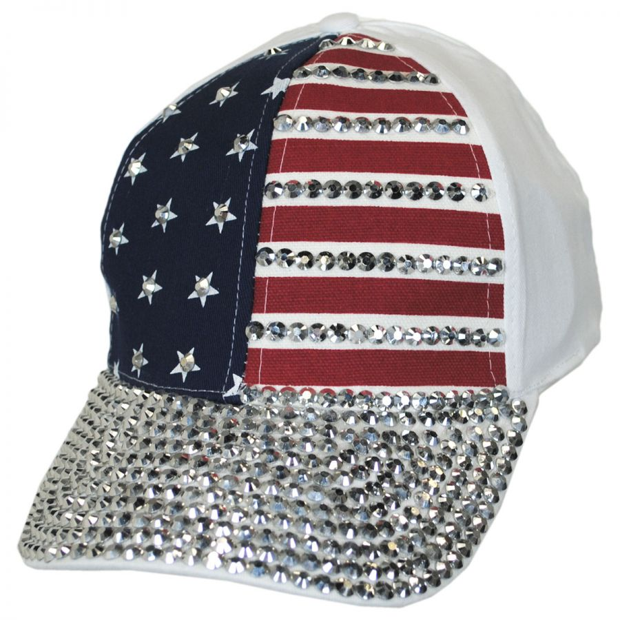 d0249976ff4 Something Special Stars and Stripes Stud Adjustable Baseball Cap ...