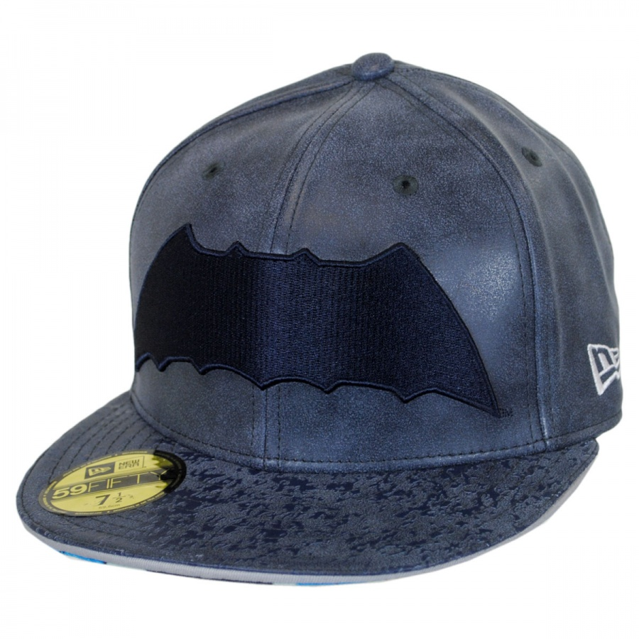 new era dc comics batman 9fifty fitted leather baseball. Black Bedroom Furniture Sets. Home Design Ideas