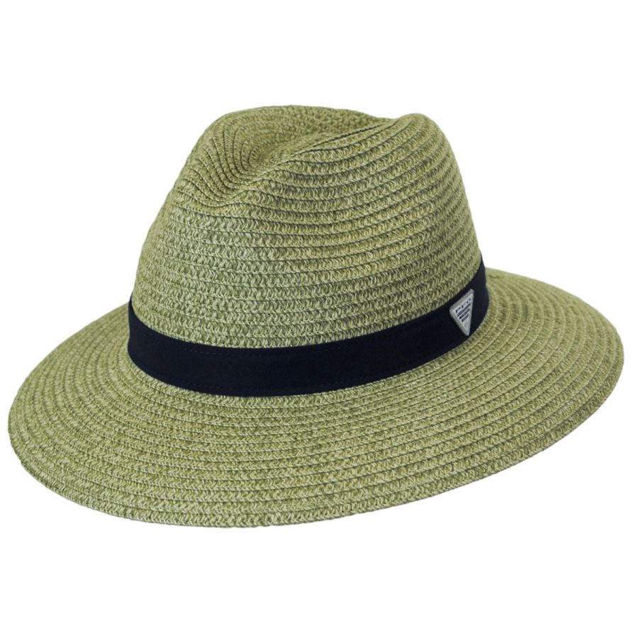 Columbia Sportswear PFG Bonehead Toyo Straw Safari Fedora Hat Straw ... dcd3499703dc
