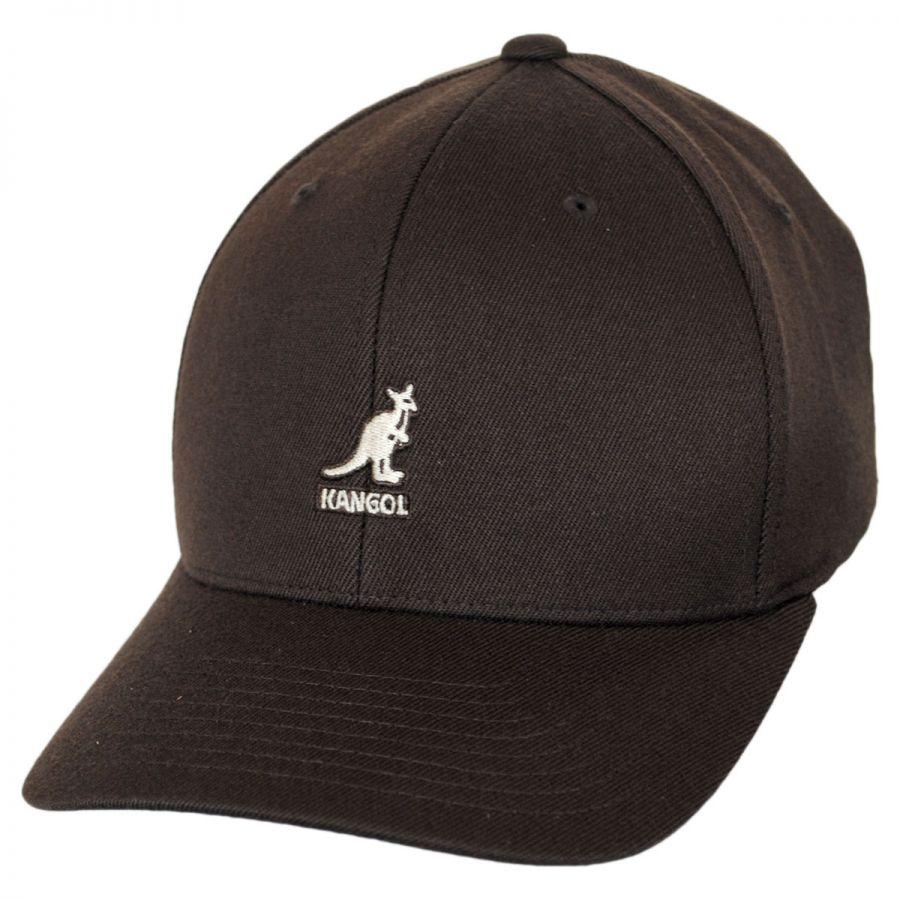 kangol logo wool flexfit fitted baseball cap fitted
