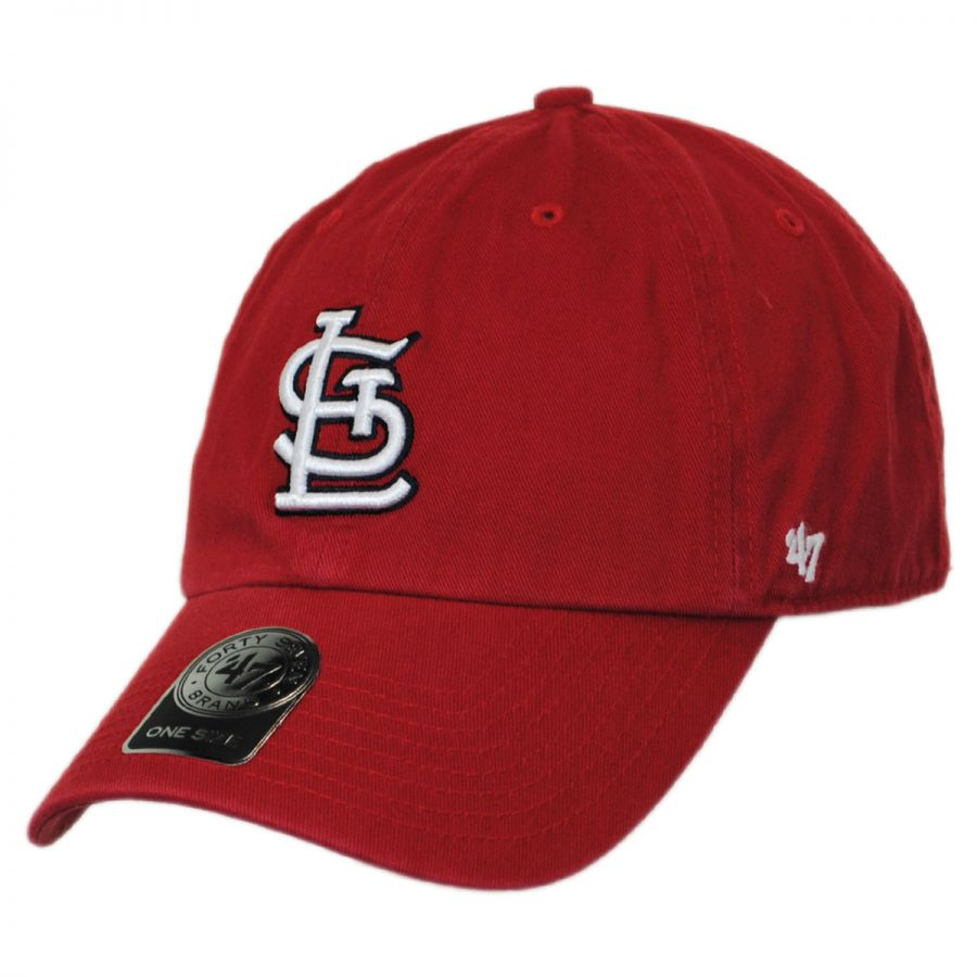 47 brand st louis cardinals mlb clean up strapback
