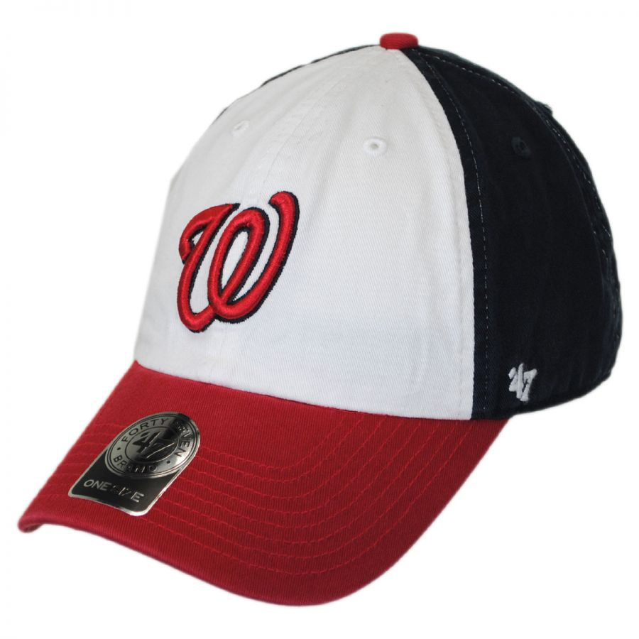 47 brand washington nationals mlb clean up strapback