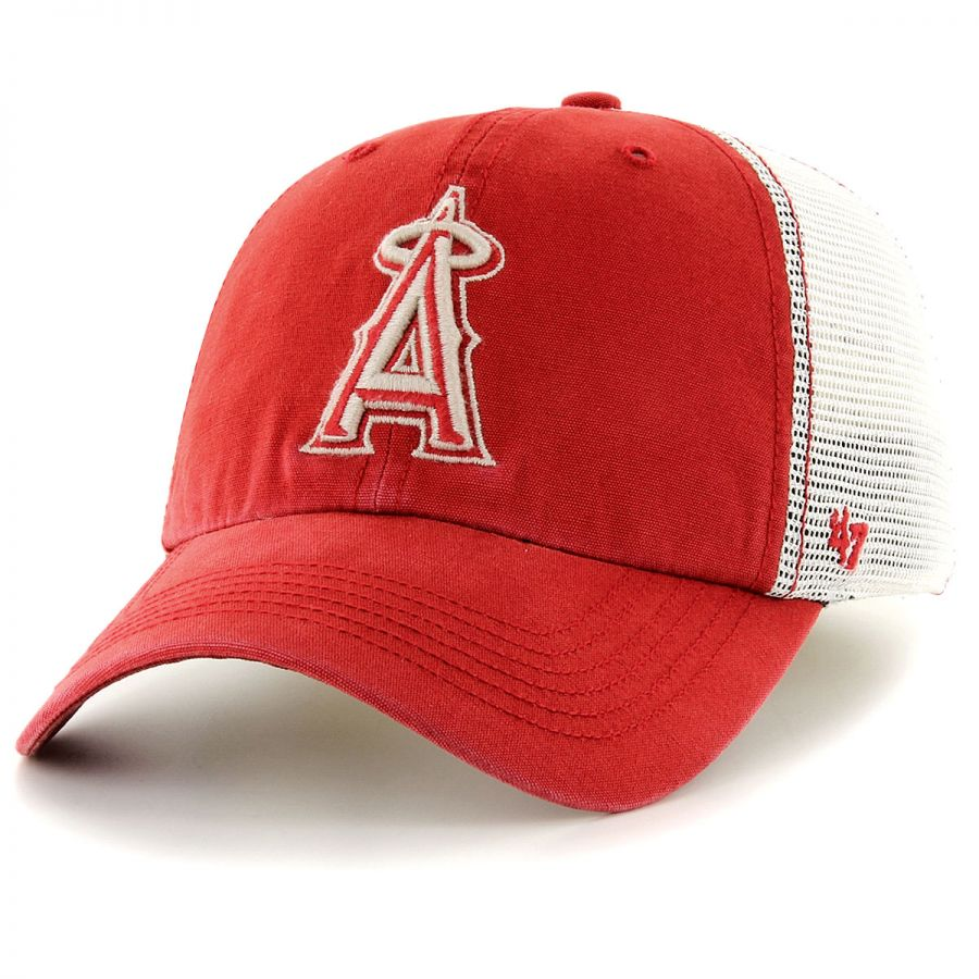 timeless design 943a4 a7fb2 47 Brand Los Angeles Angels of Anaheim MLB Rockford Mesh Fitted Baseball Cap