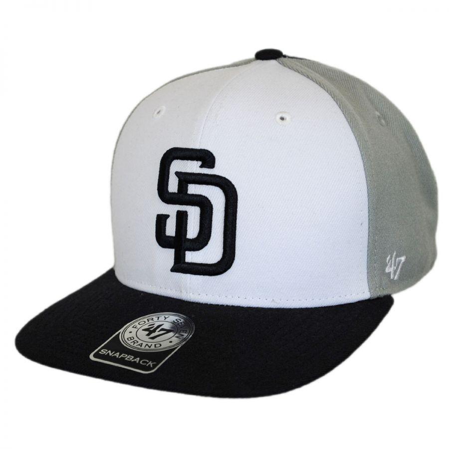 47 Brand San Diego Padres MLB Amble Snapback Baseball Cap MLB ... f2555c1ec4e