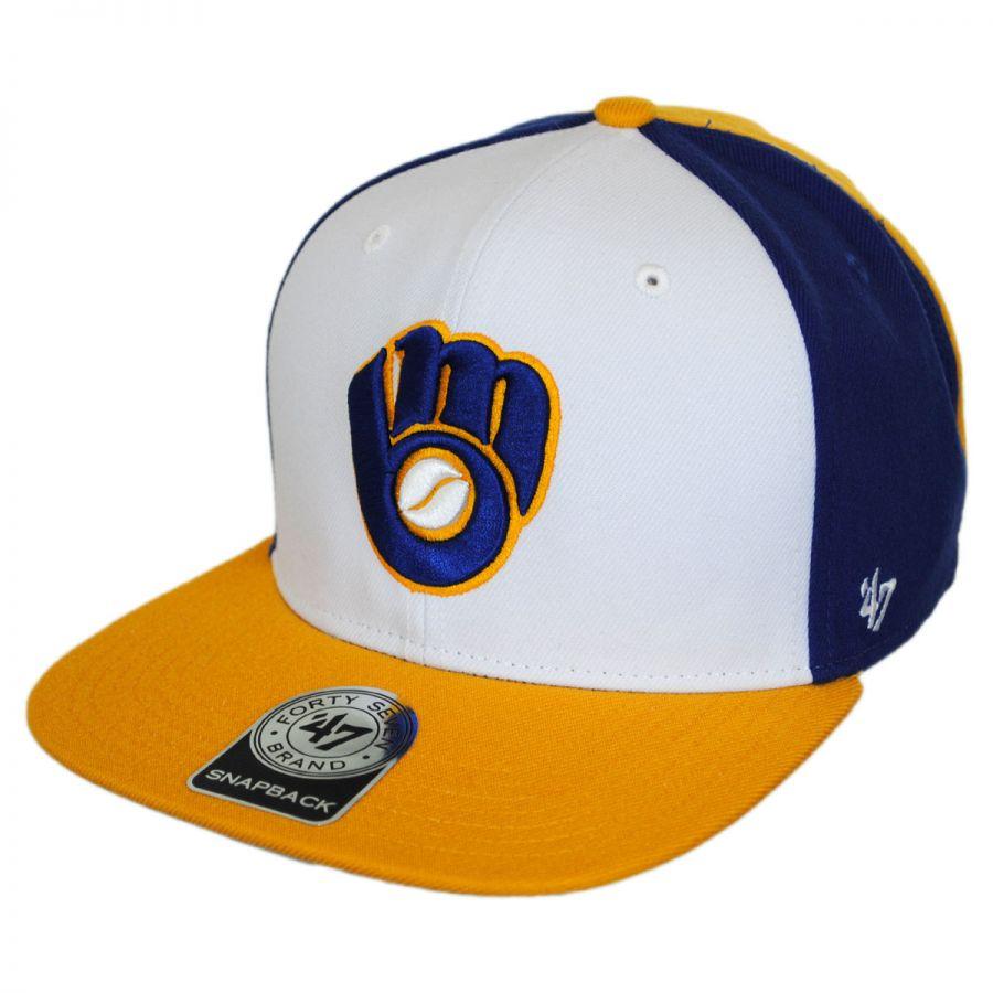 b24a9aefbc790 47 Brand Milwaukee Brewers MLB Amble Snapback Baseball Cap MLB ...