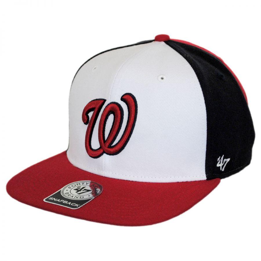 4137f95fc7 47 Brand Washington Nationals MLB Amble Snapback Baseball Cap MLB ...