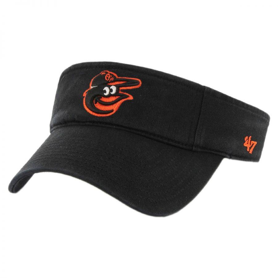 47 brand baltimore orioles mlb clean up adjustable visor