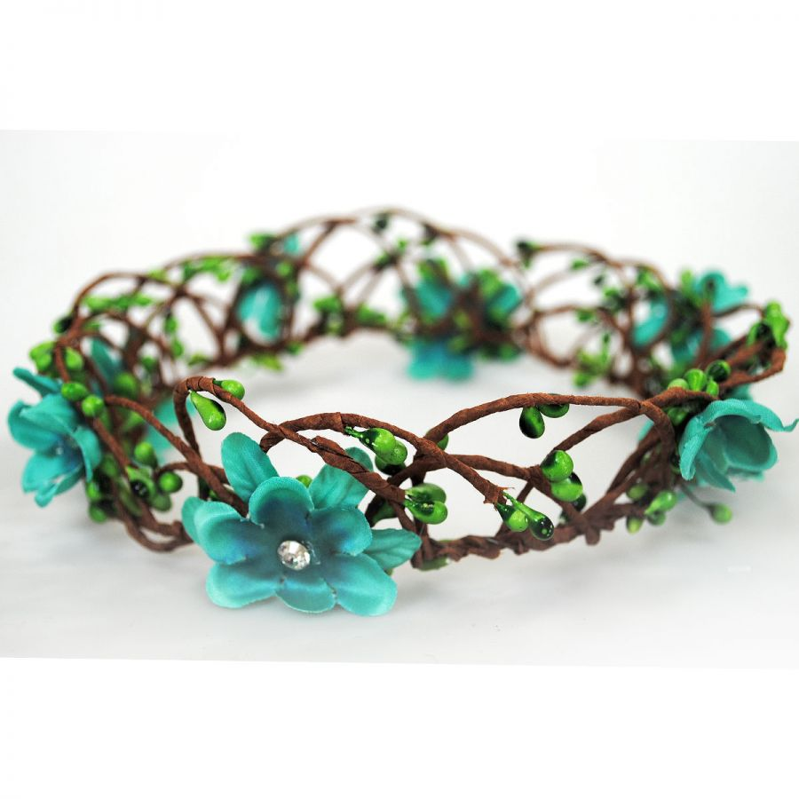how to make floral crown headband