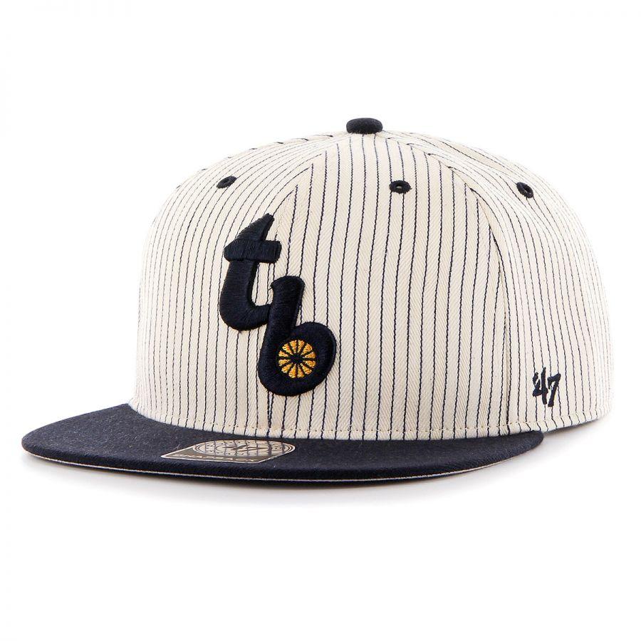 591cae379fa 47 Brand Tampa Bay Rays MLB Woodside Stripe Snapback Baseball Cap ...