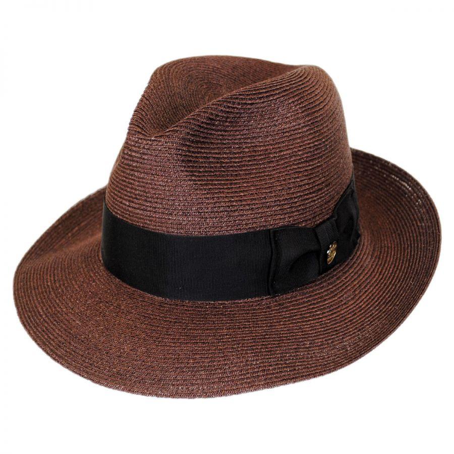 Stetson Temple Hemp Straw Fedora Hat Straw Fedoras 4e6f83a79fc