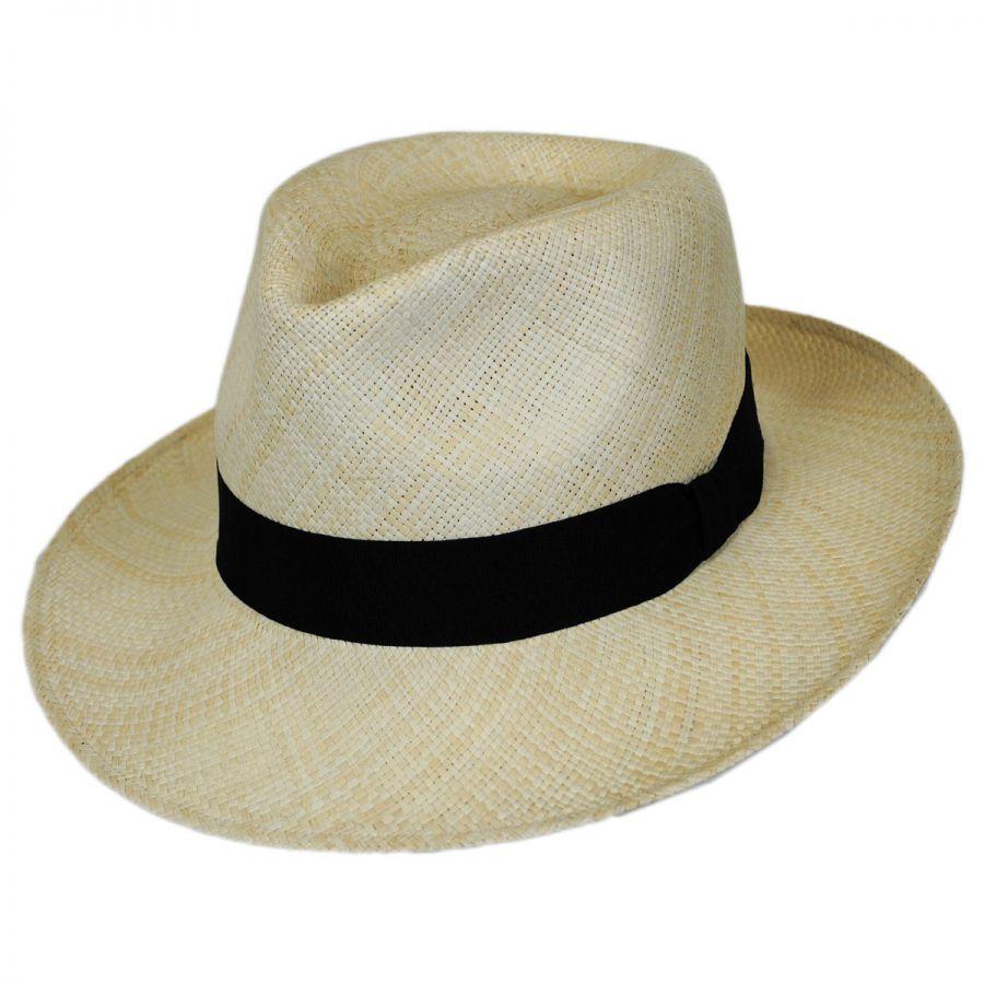 Jaxon Hats Panama Straw C-Crown Fedora Hat Panama Hats