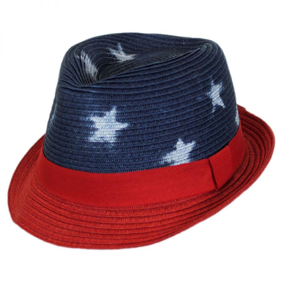 1e36a74a Scala Kid's Freedom Toyo Straw Fedora Hat Kids Fedoras