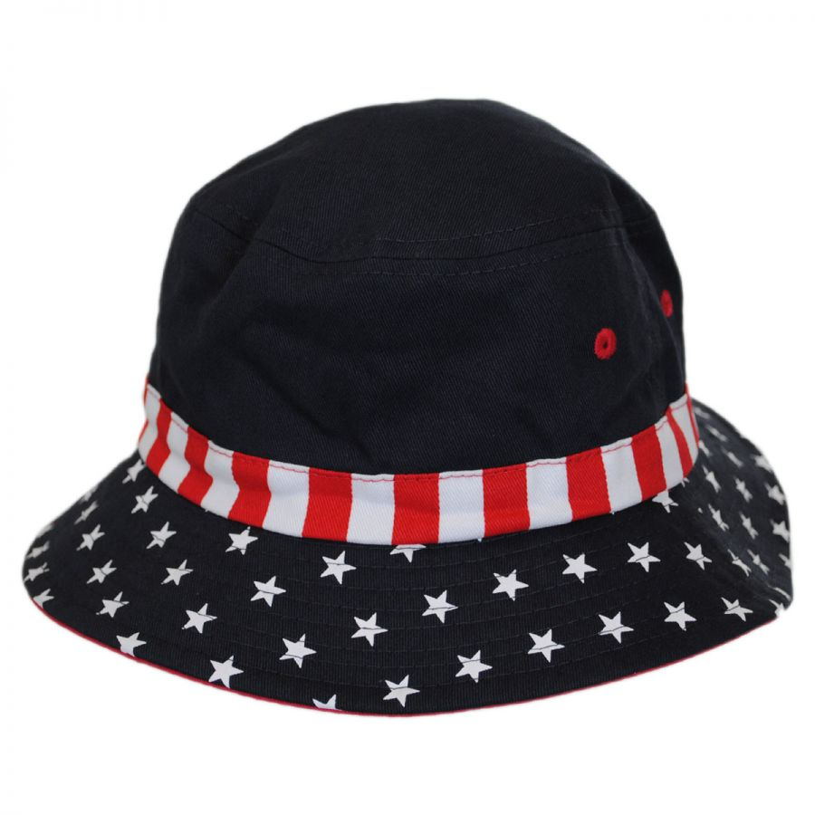 Scala Kid S Stars And Stripes Bucket Hat View All
