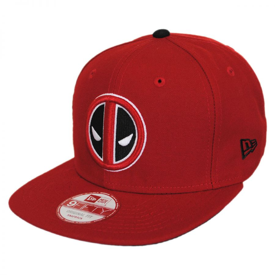 size 40 a30a6 c9e8e New Era Marvel Comics Deadpool Sidecrest 9Fifty Snapback Baseball Cap