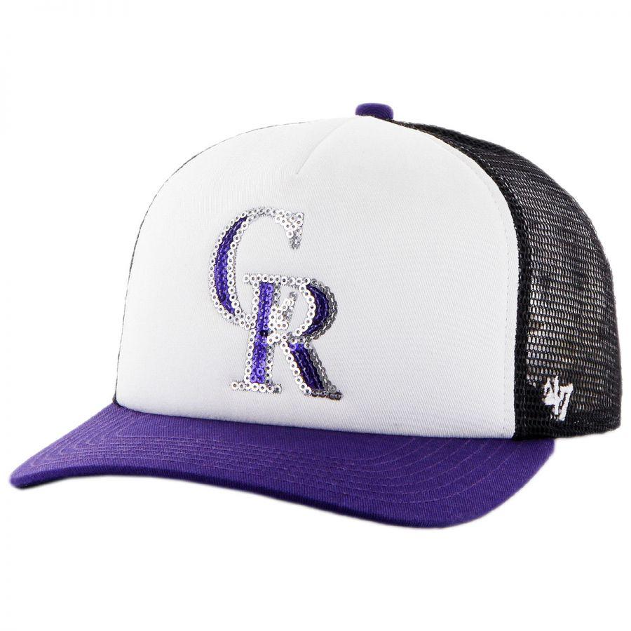 47 Brand Colorado Rockies MLB Glimmer Snapback Baseball Cap MLB ... d48cc535cbe