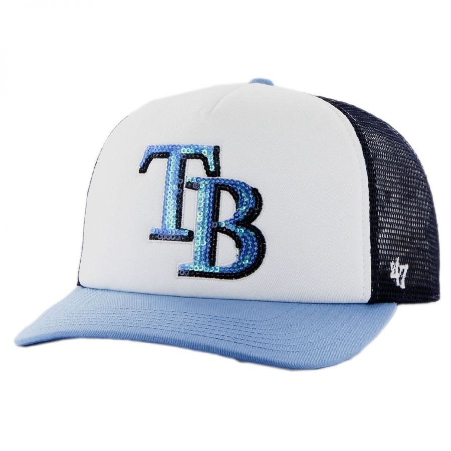 47 brand ta bay rays mlb glimmer snapback baseball cap