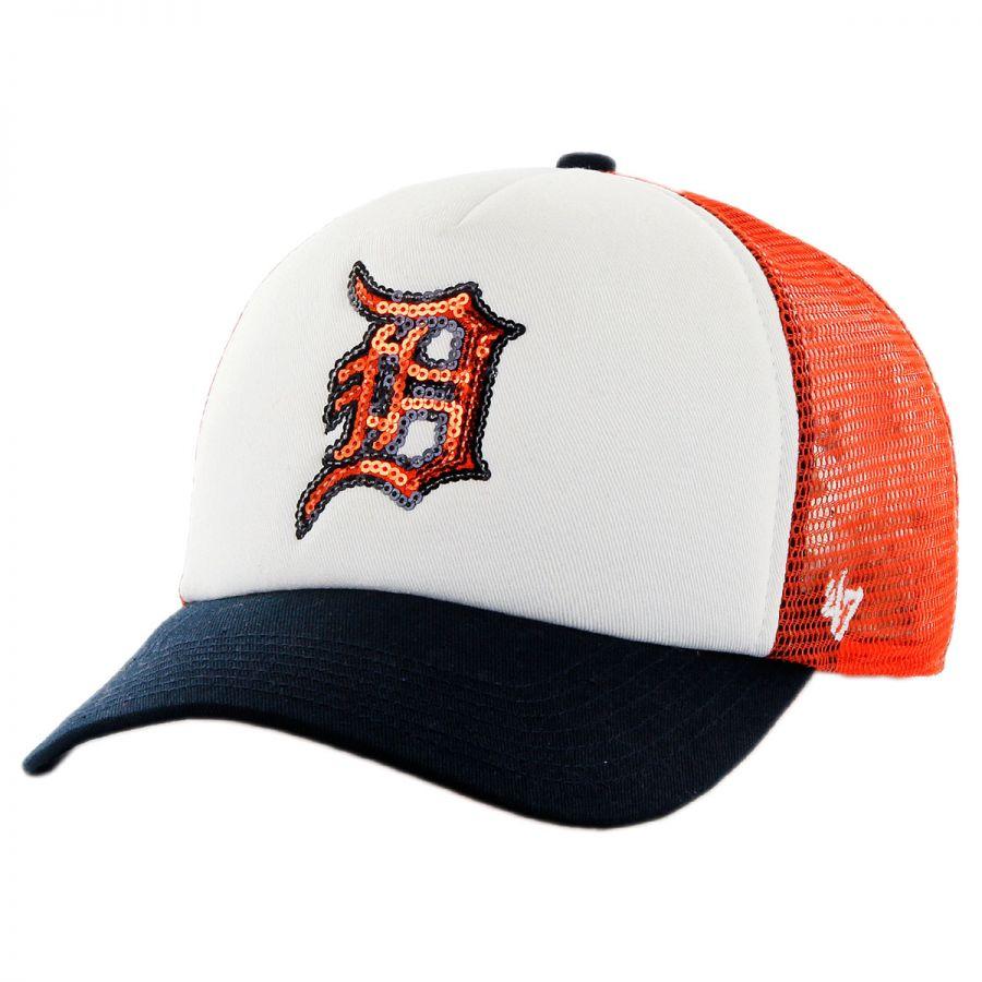 47 Brand Detroit Tigers MLB Glimmer Snapback Baseball Cap MLB ... d54b190fa43