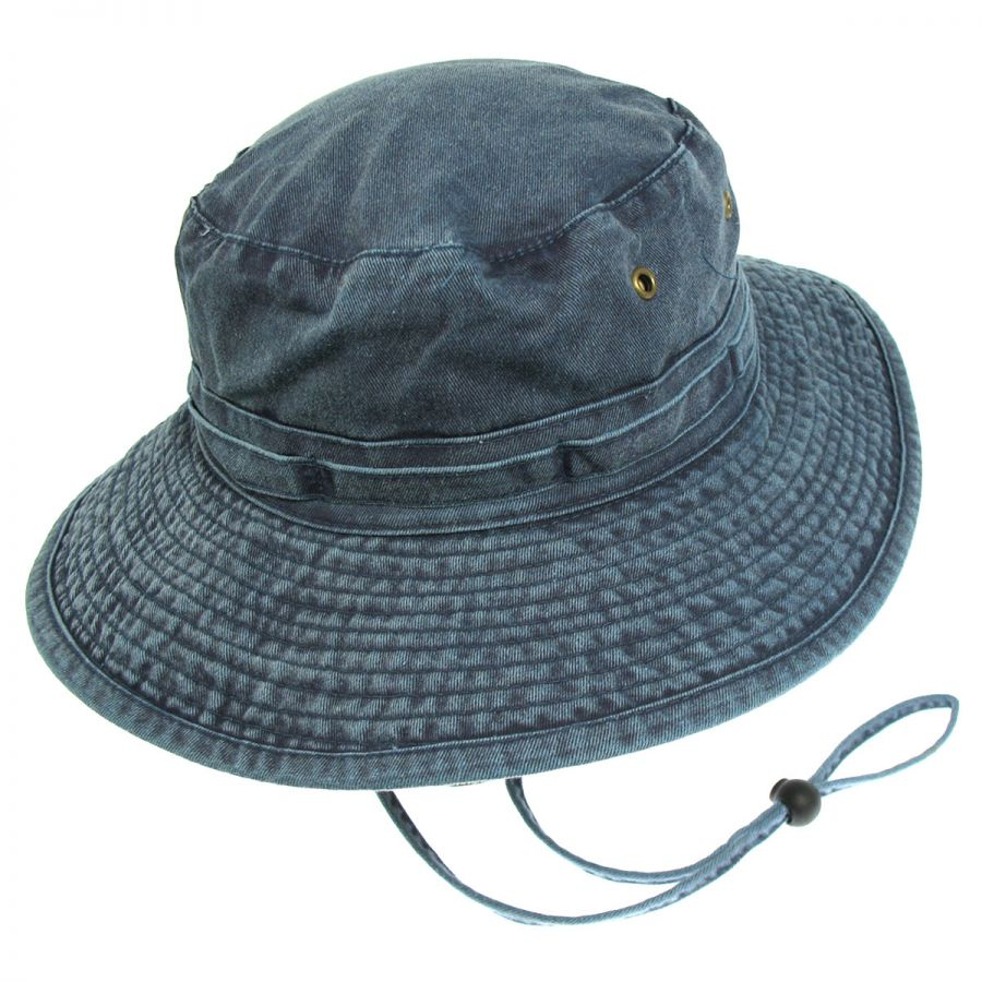 Village Hat Shop VHS Cotton Booney Hat - Navy Blue Bucket Hats b015d80c3e6