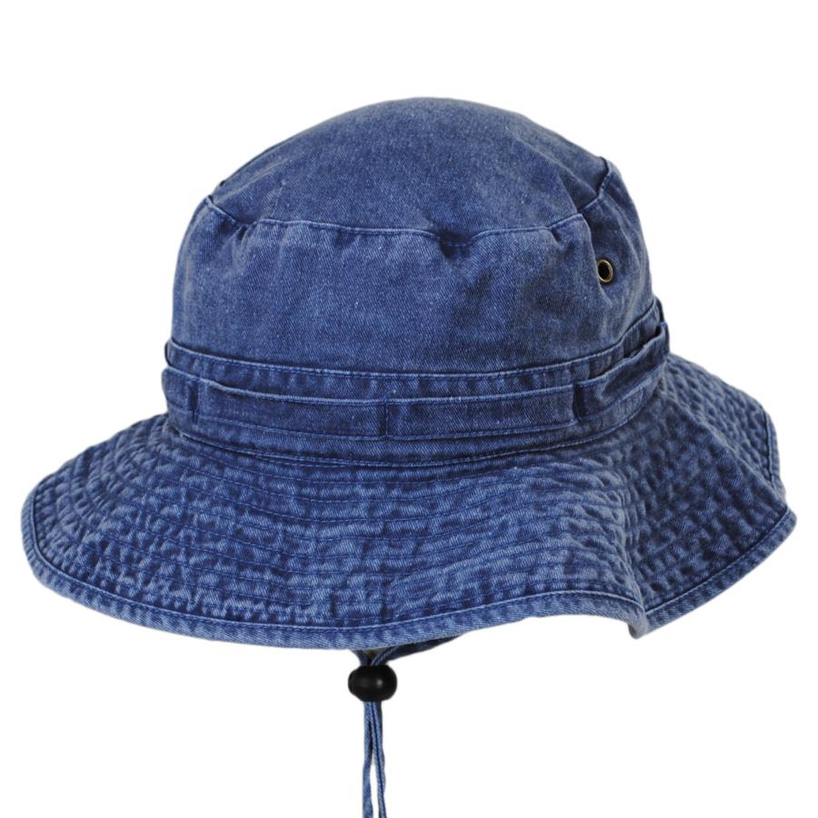 Village Hat Shop VHS Cotton Booney Hat - Navy Blue Bucket Hats b015d80c3e6