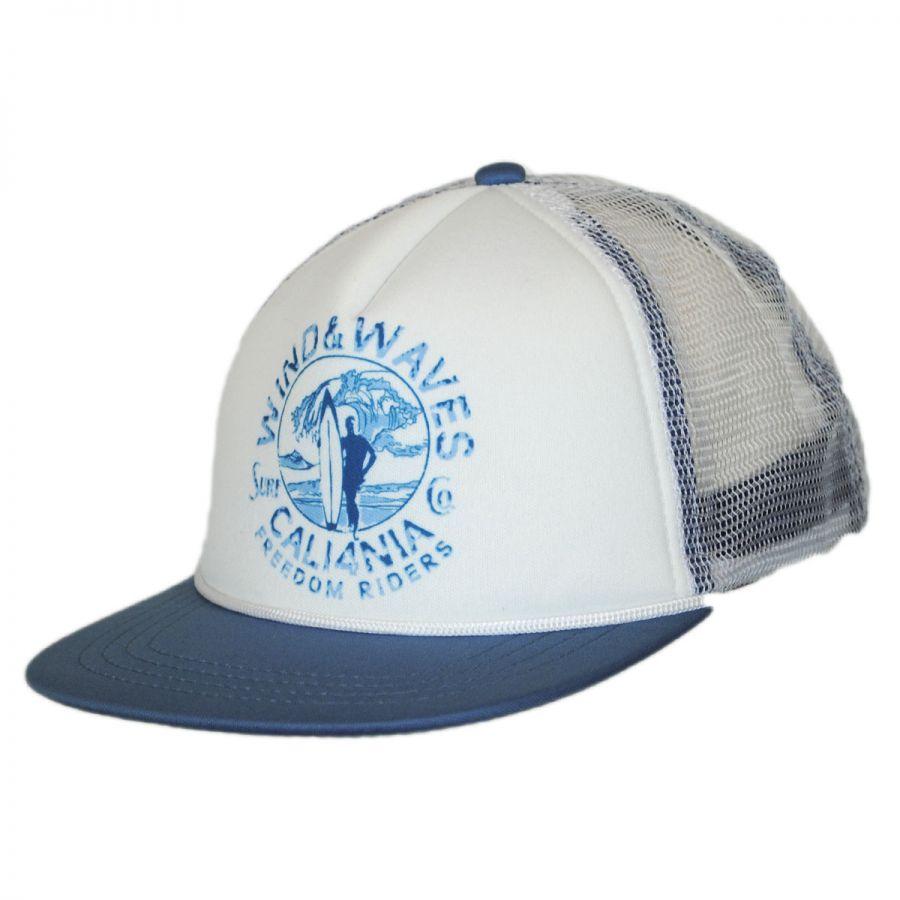 san diego hat company wind n waves mesh trucker