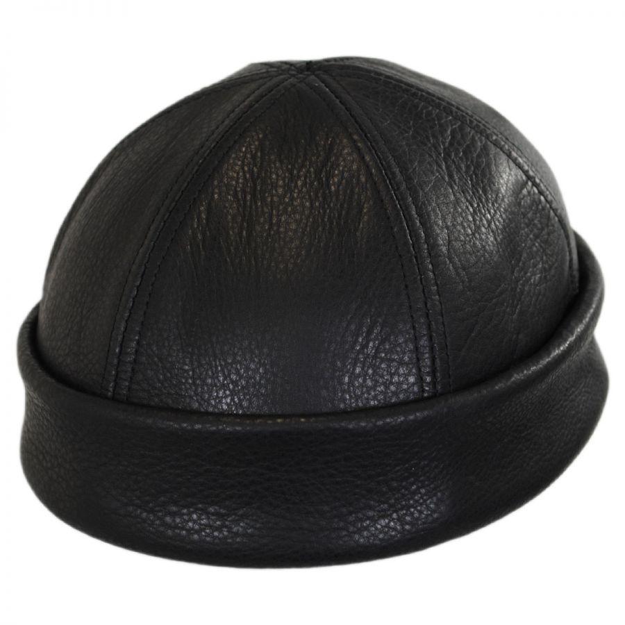 New york hat company six panel leather skull cap beanie hat beanies jpg  900x900 Leather skull 3ca1983ead21