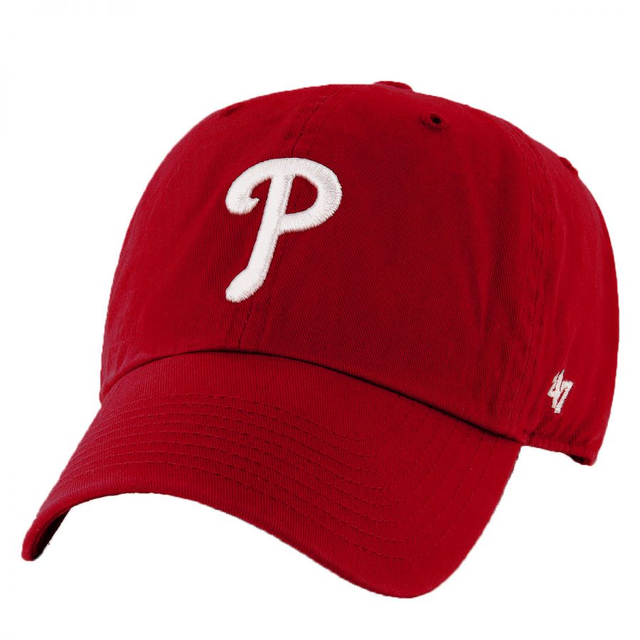 096f64901 Philadelphia Phillies MLB Clean Up Strapback Baseball Cap Dad Hat