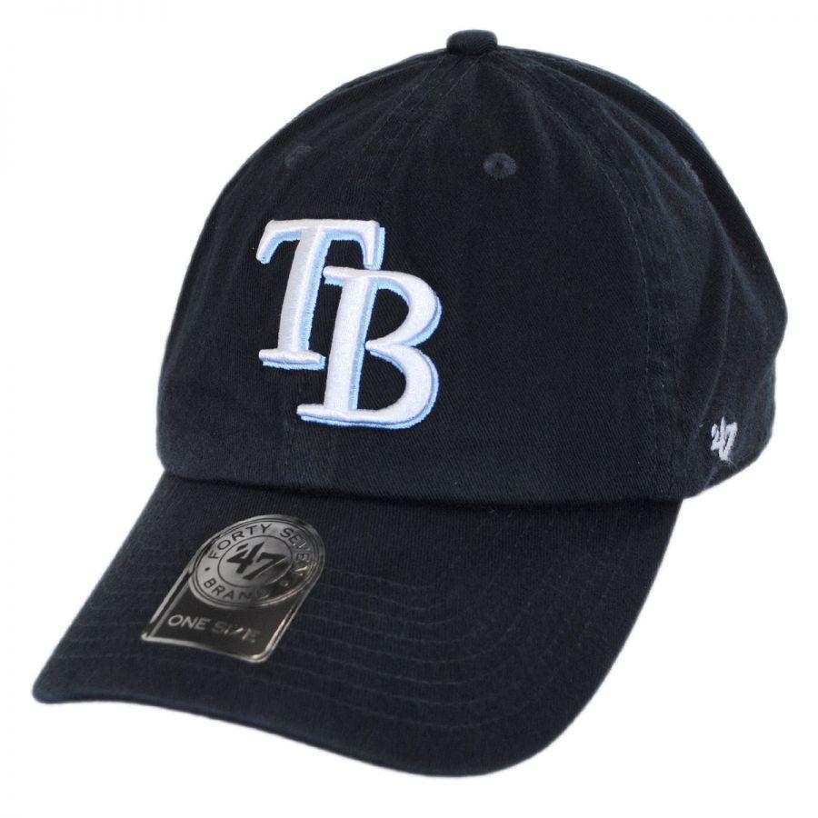47 brand ta bay rays mlb clean up strapback baseball