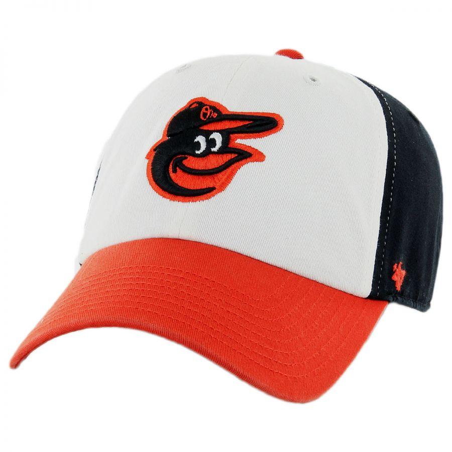 47 brand baltimore orioles mlb clean up strapback baseball