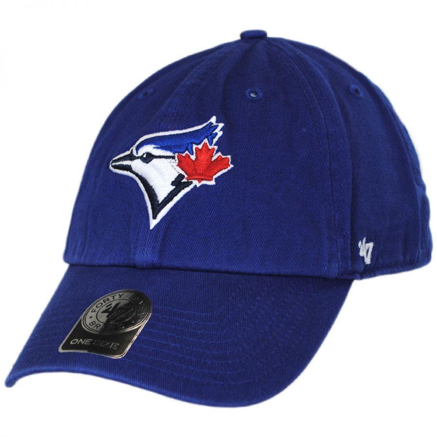 47 brand toronto blue jays mlb clean up strapback baseball